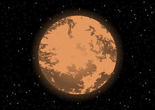 The red planet mars vector space background Royalty Free Stock Photos