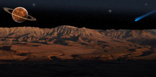 Free Red Planet (panorama). Stock Image - 9071491