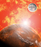 The red planet Stock Image