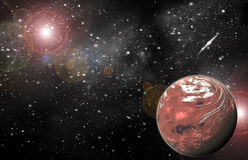 Red Planet in space Stock Photography