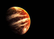 Red planet and stars Royalty Free Stock Photo