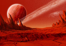 Red planets Royalty Free Stock Image