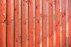 Red plank wall Stock Images