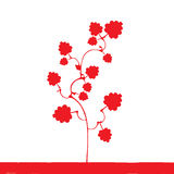 Red plant  silhouette Stock Photography