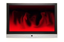 Red plasma. A plama tv HDTV royalty free stock photos