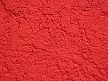 Red plastered surface Stock Photography