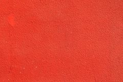 Red Plastered Wall Royalty Free Stock Photos