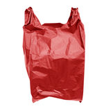 Red plastic bag Royalty Free Stock Photography