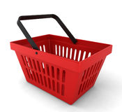 Red plastic basket Stock Photography