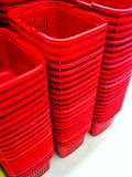Red plastic basket Royalty Free Stock Photography