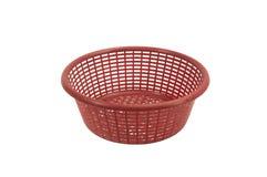 Red plastic basket Stock Photos