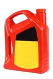 Red plastic bottle of motor oil Stock Images