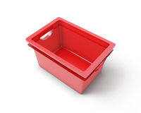 Red plastic box for clothes Royalty Free Stock Photos