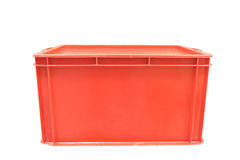 Red plastic box packaging of finished goods product Royalty Free Stock Photos
