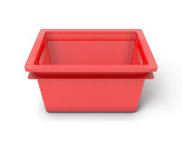Red plastic box Stock Photos