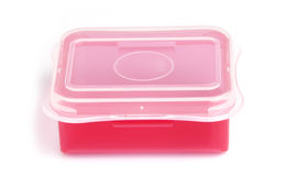 Red Plastic Box. In White background Stock Images