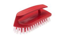 Red plastic brush Stock Photography