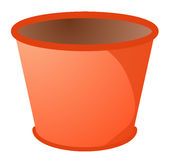 Red plastic bucket Stock Photos