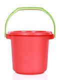 Red plastic bucket Royalty Free Stock Photos