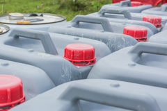 Red plastic bucket lid Stock Image