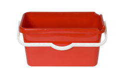 Red plastic bucket Royalty Free Stock Image