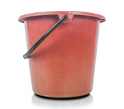Red plastic bucket. Stock Photography