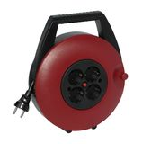 Red plastic cable reel Royalty Free Stock Photo