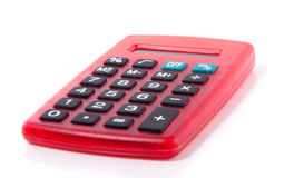 A red plastic calculator Stock Image