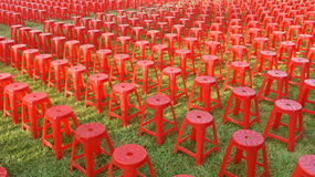 Red plastic chair Royalty Free Stock Image