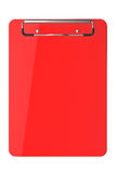 Red plastic clipboard Royalty Free Stock Photography