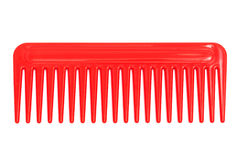 Red plastic comb Royalty Free Stock Photos