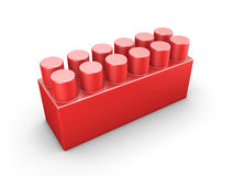 Red plastic construction element Royalty Free Stock Photos