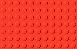 Red plastic construction toy background Royalty Free Stock Photography