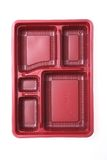 Red plastic container Stock Images
