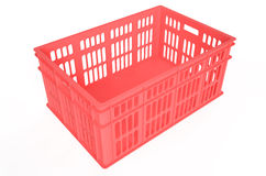 Red plastic crate Royalty Free Stock Image