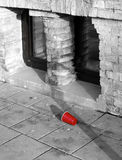 Red plastic cup Stock Images