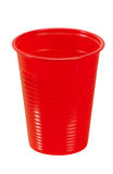 Red plastic cup - isolated Royalty Free Stock Photos
