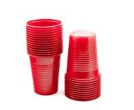 Red plastic cups Royalty Free Stock Photos