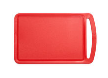 Red plastic cutting board Stock Photos