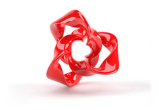 Red plastic 3d abstract object Stock Photos