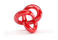 Red plastic 3d abstract object Stock Photography