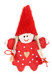 Red plastic doll keychain Royalty Free Stock Photos