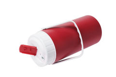 Red Plastic Flask Royalty Free Stock Photo