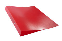 Red plastic folder Stock Photography