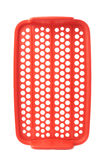 Red plastic food container lattice isolated over the white background Stock Photos