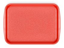 Red plastic food tray vector illustration