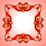 Red plastic framework Stock Photography