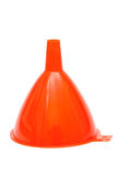 Red plastic funnel Stock Images