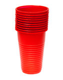 Red plastic glass Royalty Free Stock Photography