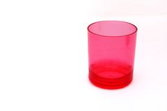 Red plastic glass Stock Photos